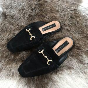 Velvet Loafer Sandals